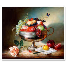 time limited diamond embroidery fruits europe full square resin particle mosaic landscape  home handmade painting
