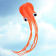 4m Lenghth Cute Octopus Shape Kite For Kids Outdoor Beach Single Line Child Stunt /Software Kite Beach Park Kites Easy Playing