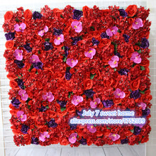 New Artificial silk rose orchid flower wall wedding background lawn/pillar road lead market decoration dark purple red