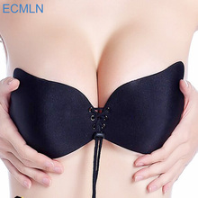 Sexy Women Strapless Bra Invisible Push Up Bra Angel Wing Shape Self-Adhesive Silicone Bust Front Bra Backless A B C D