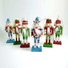HT013 12CM boutique nutcracker soldiers Shiny Bright shining puppets doll toy gift items the mouth can be active 6 pcs/lot(China)