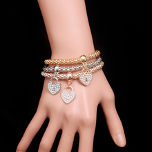 2016 New Fashion Crystal Gold Color Bracelets&Bangles Multilayer Charm Bracelets Women Gift Pulseira Famous Brand Jewelry