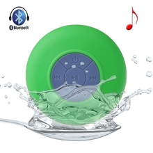 BTS-06 Bluetooth Portable Waterproof Wireless Speaker for Shower Music Player Loudspeaker with Sucker Best Gift 60pcs Free Ship