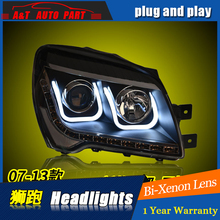 A&T Car Styling For Kia Sportage headlights For Sportage LED head lamp Angel eye led DRL front light Bi-Xenon Lens xenon HID