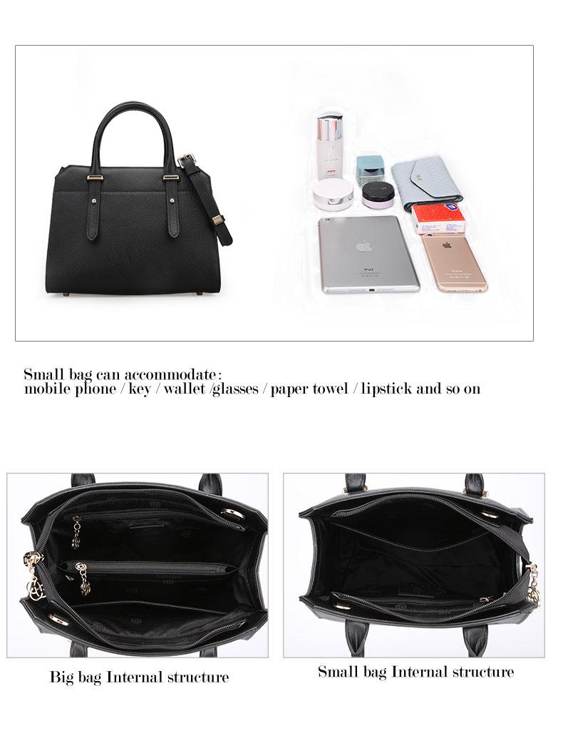 Famous luxury Brands Women Genuine Leather Bag Ladies Tote Embossed leather Boston handbags 2017 Fashion Female Versatile Bag H51340227 (10)