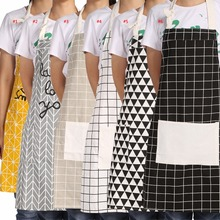 A Piece of fashionable Practical Unisex Kitchen Dining Room Restaurant Chef Cooking Aprons  With Pockets