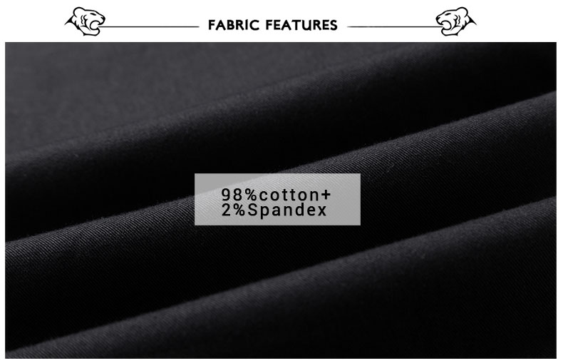 Spring Solid Mens Casual Pants Cotton Stretch Black Mens Slim Fit Long Trousers Fashion Zipper Fly High Quality Brand Clothing 6