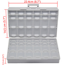 AideTek BOXALL48 lids empty enclosure SMD SMT organizer surface mount empty plastic part box lables UK DE US ship BOXALL48(China)