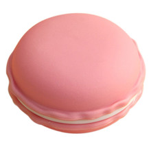 10*5CM Large Macaron Storage case flick Open Macaroon beads Jewelry carrier holder box Nail ornament Bag for Earphone SD Card(China)