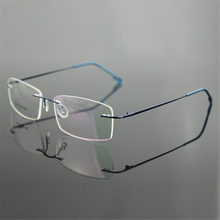Classic Mens Pure Titanium Rimless Glasses Frames Myopia Optical Frame Ultra-light Titanium Business Frameless Eyeglasses Frame