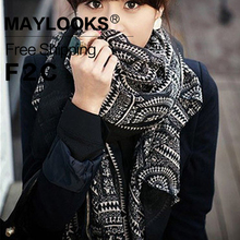 Maylooks 2017 New 80*170cm Printed Scarves Shawl for Women Scarves Head Wrap Chiffon Hijab Gaze De Paris Scarf for Women HN20(China)