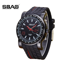 SBAO Top Brand Factory Sale Quartz Men Silicone Wristwatch Boy Military Watch Male Outdoor Sports Watch Boy Student Casual Clock