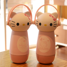 cute hello kitty thermos coffee cup 3D cat stainless steel mighty mug lovely cartoon vacuum flask christmas gift for child