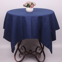 Indigo Pure Cotton Table Covers Rectangular for Dinning Tables / Prussian Dark Blue Table Cloth Square for Tea Coffee Tables