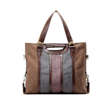 Fashion color stripe canvas bag ladies leisure bags large shoulder fashion all-match cloth(China)