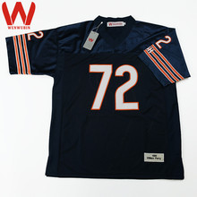 WENWUBIN Mens #72 William Perry Embroidered Throwback Football Jersey