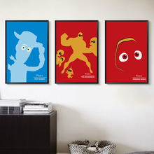 Bianche Wall Pixar Animation Cartoon Children Decor Canvas Painting Art Print Poster Picture Wall Paintings Home Wall Decoration