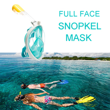 Full Face Snorkel Mask for Swimming Snorkel Diving Mask Goggles and Breathing Children Diving Mask Anti Fog  Waterproof