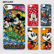 Luxury brand Mickey Mouse Minnie pop Art design hard White Skin phone Case Cover for Apple iPhone 7 6 6s Plus SE 5c 5 5s 4 4s(China)