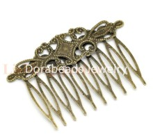 8SEASONS 10 Bronze Tone Comb Shape Hair Clips 6.5x4.6cm (B15060)