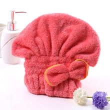 Solid Color Shower Caps Make Hair Dry Quickly Cap Bath Bathing Comfortable Soft Wash Hair Shower Cap Hat(China)