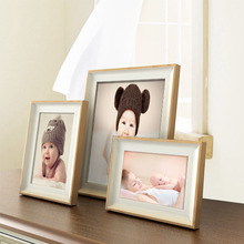 Modern simple photo frame desktop ornaments 6/7/8 inch picture table baby photo frame family photo frame 1 pcs easel stand(China)