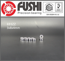 693ZZ Bearing ABEC-7 10PCS 3x8x4 mm Miniature 693 ZZ Ball Bearings 619/3ZZ EMQ Z3 V3 Mini 693Z 3*8*4 Bearing(China)