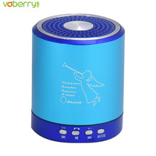 VOBERRY Mini Portable Wireless Bluetooth Speaker Angelic Pattern Stereo Super Bass MP3 Music Speakers with Microphone Sound Box(China)