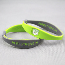 3pcs/lot hot sale pro silicoen power wristband purestrength double balance bracelet energy bangle for kid's gift