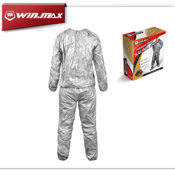 Winmax Unisex Fitness Loss Weight Slimmer Slim Exercise Workout Gym PVC Sweat Sauna Suit