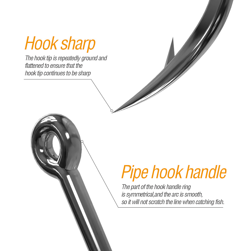 DONQL 50pcs Fishing Hooks Set Barbed Single Circle Carp Hook High Carbon Steel Sea Fishinhook Fly Fishing Accessories Tackle (1)