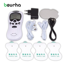 Beurha Hot Dual-Output Electric Massager Electrical Stimulator Nack Back Shoulder Leg Muscular Body Relaxation Slimming Massager(China)