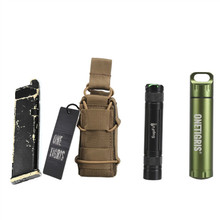 OneTigris MOLLE Open-Top Single Pistol Mag Pouch Magazine Bag for M1911 92F Glock Flashlight/Tool Knife Sheath Cartridge Holster