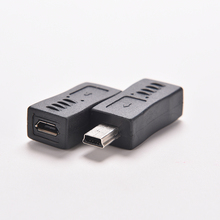 4 Type Straight / L Shape Black Micro / Mini USB Female to Mini / Micro USB Male Adapter Charger Connector Converter Adaptor