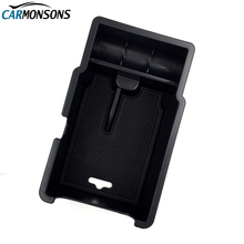Carmonsons Central Armrest Storage Box Container Holder Tray for Fiat 500X 2014+ Car Organizer Accessories Car Styling