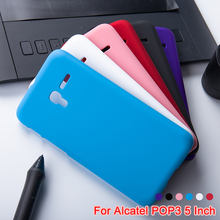 Frosted Matte Phone Cases For Alcatel OneTouch Pop 3 Pop3 5015D 5'' Rubber Hard Case Cover For Alcatel Pop 3 Phone  Accessories