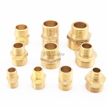 1/8'' 1/4'' 3/8'' 1/2'' Male BSP Thread Brass Barbed Fitting Coupler Connector(China)