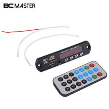 BCMaster Car MP3 Decoder DIY Board 12V Wireless Audio Module USB TF Radio + Controller Portable Travelling MP3 Players Gift(China)