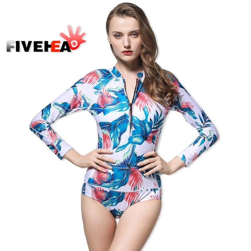 Print Floral Long Sleeve Swimwear Women Bikini 2017 Crop Top Surfing Beachwear Plus Size Tankini Swimsuit Swim Suits<br>