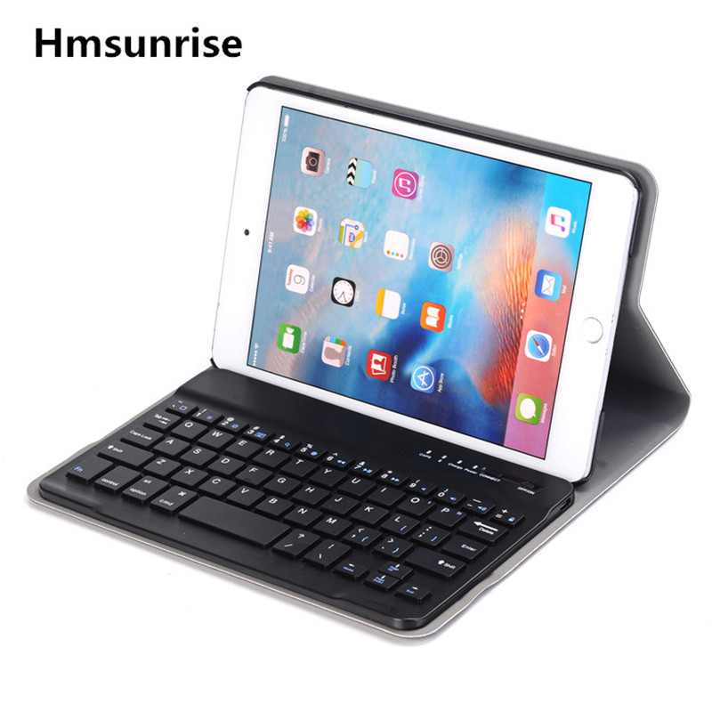Hmsunrise For ipad mini4 Multifunction Removable Wireless Bluetooth Keyboard Case For apple ipad mini 4 tablet A1538 A1550<br>