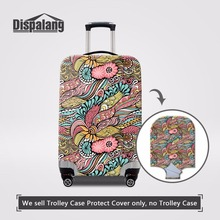 Dispalang Customized Protective Luggage Cover Creative Striped Thick Elastic Trolley Suitcase Dust Rain Cover Travel Accessories(China)