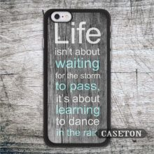 Dance In The Rain Quote font b Case b font For font b iPhone b font