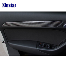 Real carbon fiber Sline car door sticker car interior decoration for audi A3 car only fit left side driving