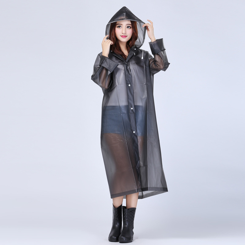 Women Men Raincoat Outdoor Long Jacket Waterproof Hooded Coat Cycling Rainwear r