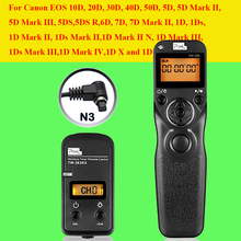 Pixel TW283 TW-283 N3 Wireless Timer Remote Control For Canon 7D 5D Mark ii 1D 6D 7D2 5D3 50D 40D 30D 10D Camera Shutter Release