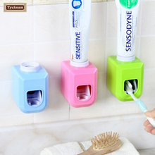 Automatic Toothpaste Dispenser Squeezer Wall Mount New Touch Automatic Auto Squeezer Toothpaste Dispenser Hands Free Squeeze Out(China)