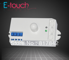 360 Degree Microwave Sensor high sensitivity long distance Microwave detector Switch 180V-240VAC Free shipping (ET029A)