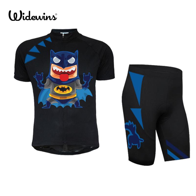 cycling jersey Super Hero Black batman polyester quick drying children bike bicycle  wear short clothing ropa ciclismo 7039 d82c921b7