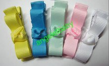 100 pcs  security fully lined alligator clip HAIR CLIPPIES BEAUTIFULL Hair Clips bows christmas Ribbon mini bows FJ3236