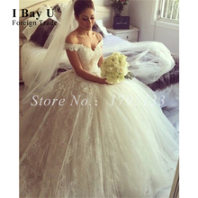 Italy Design Off White Blush Wedding Dress 2016 Elegant Tulle Lace Wedding Dresses Cap Sleeves Bridal Ball Gowns Oriental Dress